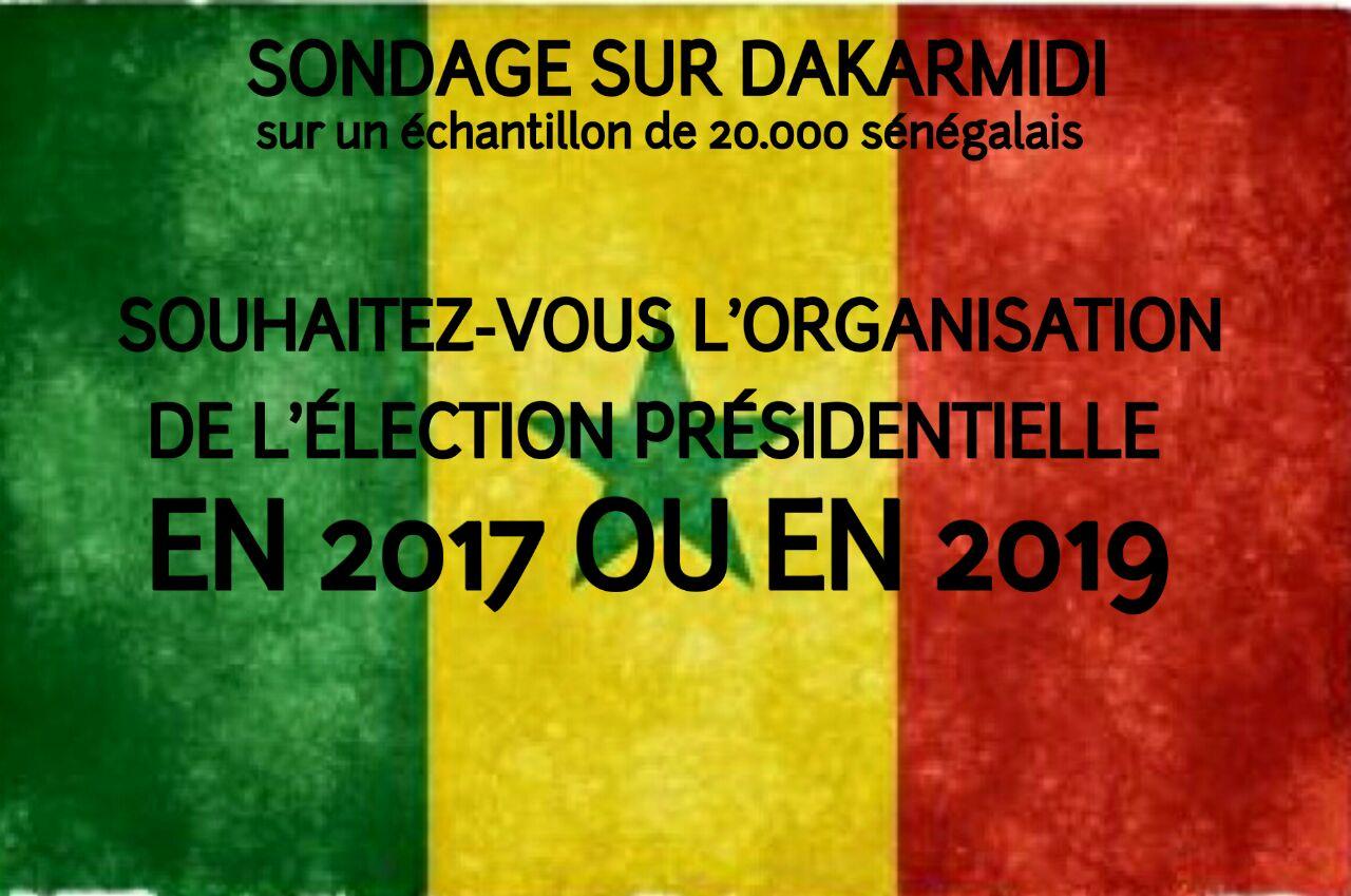 SENEGAL : ÉLECTION PRESIDENTIELLE / SONDAGE